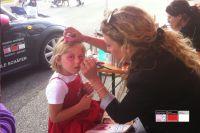 Kinderschminken für den guten Zweck - die Kosmetikschule Schäfer sammelt für die Kindergruppe Bullerbü.