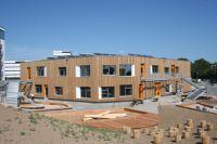Heidelberg-Bahnstadt: Kindertagesstätte in Passivhausbauweise kurz vor Fertigstellung