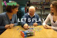Spielvorstellung mit Layla, Tom und Isabella im Bayerischen Spiele-Archiv (v.l.)