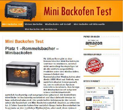 Mini Backofen Test
