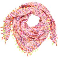 Halstuch mit Zebra Muster, 100% Viskose, bunt, von LEBIG
