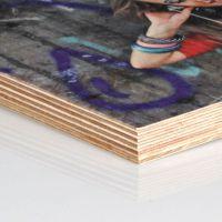 Holzwandbild mit natürlicher Struktur