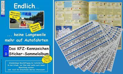 KFZ-Kennzeichen Sticker-Sammelalbum