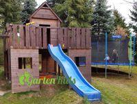 Spielturm und Trampolin im eigenen Garten - ein Paradies für Kids !
