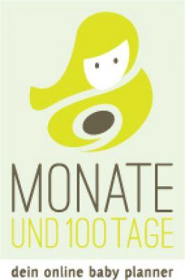 """Logo """"9 Monate ud 100 Tage"""" - dein online Baby Planner"""
