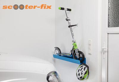 Cityroller-Wandhalterung scooter-fix für sichere und platzsparende Aufbewahrung