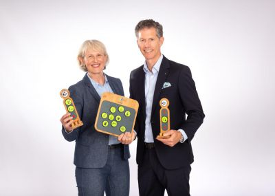 Heidi und Christian Eineder bringen mit ihren easyfaM-Produkten frischen Wind in den Familienalltag. Foto: Melanie Fielenbach