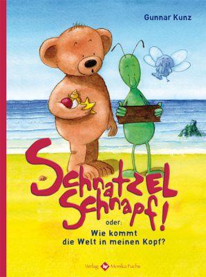 Krümel und Hopsa überlegen: Was könnte das bloß sein – ein Schnatzelschnapf?