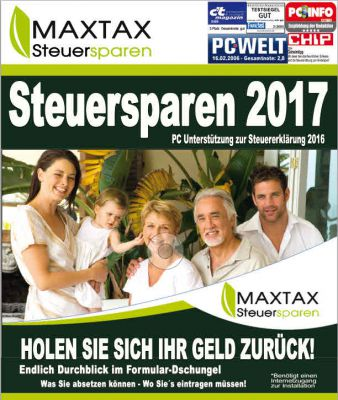 MAXTAX Steuersparen 2017 für die Steuererklärung 2016 ist ab sofort unter www.maxtax.de erhältlich.