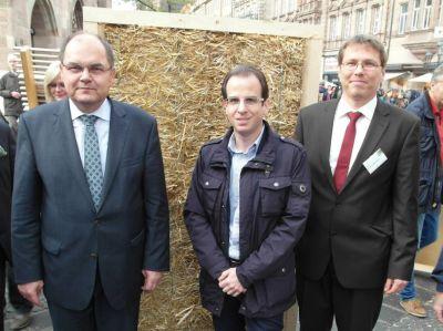 v.l.n.r Bundeslandwirtschaftsminister Christian Schmidt (CSU), Michael Lohr (BAUnatour), Dirk Scharmer (FASBA)
