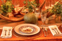 Thanksgiving feiern mit originalem American Food