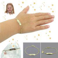 Kinderarmband Gold als Geschenkidee zu Weihnachten
