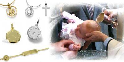 Süßer Taufschmuck von Taufgeschenke-Ideen.de: Taufketten, Taufringe, Taufanhänger sind beliebte Geschenke zur Taufe