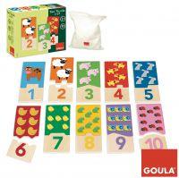 Zählen lernen mit dem Duo Puzzle 1-10 von Goula