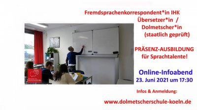 Nach dem Schulabschluss eine Ausbildung mit Sprachen in Köln? Online-Infoabend am 23.6.  (© RBZ Köln)