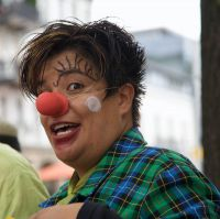 Clown Walk Act in Konstanz