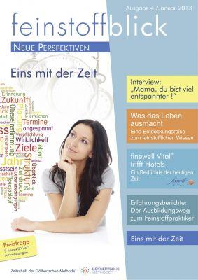 """feinstoffblick 4. Ausgabe """"Eins mit der Zeit"""", GME Verlag"""