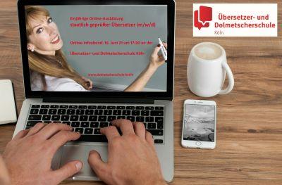 Web-Infoabend Online-Ausbildung Übersetzer*in (staatlich geprüft) am 16. Juni 21 (© RBZ Köln)