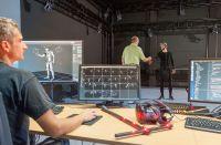 Im Motion Capture Labor der Fakultät Informatik können Bewegungen im Detail erfasst analysiert und digitalisiert werden.
