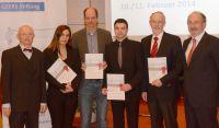 V.l Gottfried Diller, Athanasia Warnecke, Ernst Dalhoff, Dennis Zelle, Anthony W. Gummer und Frans Geelen