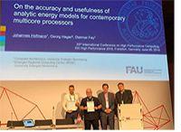 """Gauss-Award-Gewinner, Dr. Georg Hager (2.v.li.), bei der Preisverleihung auf der """"ISC High Performance 2018"""""""