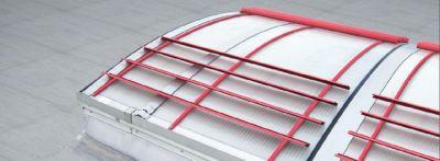 Vier traufseitig angebrachte Aluminium-Lamellen schützen beim JET-VARIO-PROTECT-180 zuverlässig vor Durchsturz.