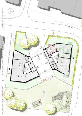 Nach Abriss eines veralteten Kindergartens entsteht in Leonberg ein modernes Mehrgenerationenhaus aus Unipor-Mauerziegeln.