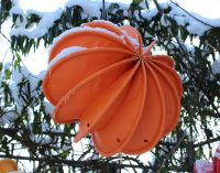 Der wetterfester Lampion Barlooon für den ganzjährigen Einsatz im Freien. Er trotz der heißesten Sonne und dem tiefsten Winter.
