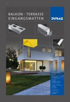 Für Terrassen, Balkone oder Eingangsbereiche bietet Dural ein großes Produktsortiment an Profilen und Mattensystemen. Foto: Dural