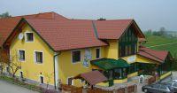 Ein aus Pfannenblech gedecktes Gasthaus