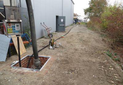 Zur Durchführung wurde eine unterirdische Versuchsstrecke auf dem Gelände von Dommel aufgebaut. Foto:Sanierungstechnik Dommel GmbH