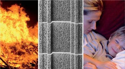 Leichtbetonmauerwerk verschafft Bewohnern im Brandfall genügend Zeit, der Gefahrenzone zu entkommen. (Foto: KLB Klimaleichtblock)