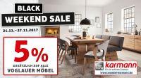 Black Weekend Sale bei Möbel Karmann