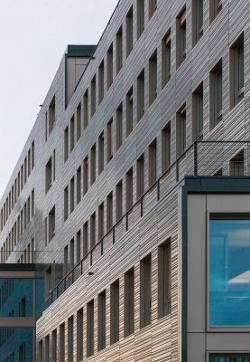 Das H7 in Münster steht beispielhaft für die Holz-Hybridbauweise. Foto: Brüninghoff