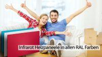 Infrarotheizungen in allen RAL Farben bei clever-geheizt.de