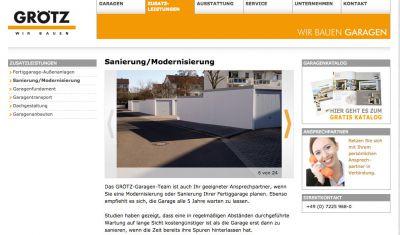 @ Fertiggaragen Sanierung Modernisierung GRÖTZ GARAGEN GAGGENAU
