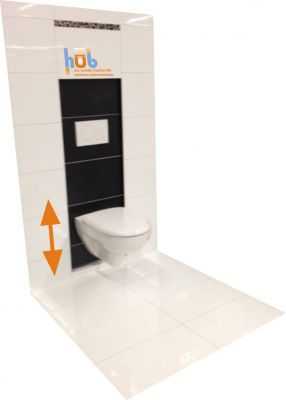 Das L.o.B.Familien-WC höhenverfahrbar