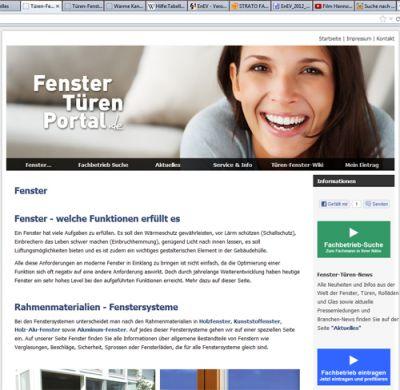 Das tueren-fenster-portal.de geht mit einer Einführungsaktion für Fenster- und Türenfachbetriebe an den Start. Foto: tueren-fenste
