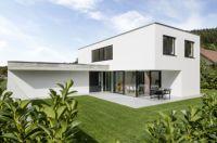 Individuell und effizient: Das Einfamilienhaus in Buch am Erlbach vereint moderne Architektur mit vorbildlichen Energiestandards.