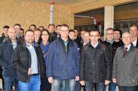 Baustellenbesichtigung: DHV-Präsident Taglieber (vorn, 2.v.r.), GF Th. Schäfer (vorn re.), Teilnehmer DHV-Herbstfachtagung©Zielke