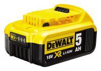 Die neuen 5,0 Ah-Akkus von DEWALT erreichen im Vergleich zu einem Premium-Akku mit 4,0 Ah 25 Prozent mehr Laufzeit.