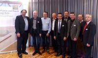 Das neue Präsidium des Deutschen Holzfertigbau-Verbandes e.V. (DHV) (c) Achim Zielke/DHV, Ostfildern