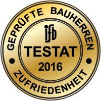 Vertrauenssiegel des ifb Institut für Bauherrenbefragungen GmbH