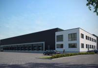 Die Realisierung der Hallen- und Bürogebäude der EV Logistik GmbH übernahm Brüninghoff. Visualisierung: Brüninghoff