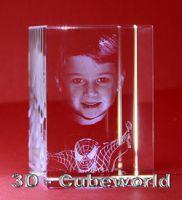 3D Portraits in Glas von 3D-Cubeworld.com