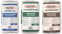 Drei Grundvarianten bilden die Basis von Rapid Set®: Cement All®, Mortar Mix und Concrete Mix.
