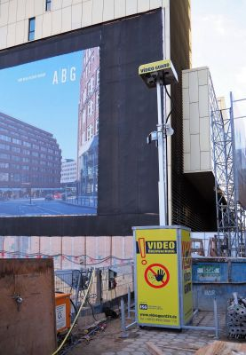Video Guard Professional sichert die Baustelle des Deutschlandhauses in Hamburg.  Foto: Video Guard