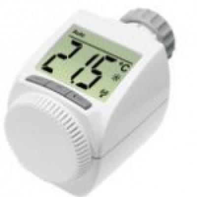 Dieser Funkventilregler steuert mit einem Elektromotor die Heizungstemperatur vom Smartphone