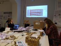 Auf Initiative der Unipor-Gruppe forschten Studierende zu experimenteller Fassadengestaltung (Foto: Dennis De Witte/ Darmstadt).
