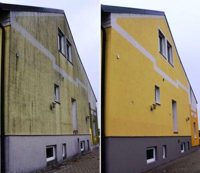 Fassadenreinigung im neuen Schonverfahren